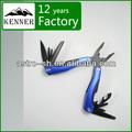 venta caliente de acero inoxidable negro recubrimiento multi herramienta de camping con sistema de bloqueo de la marca kenner