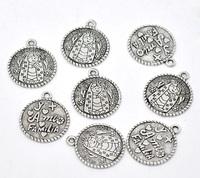 Antique Silver Virgencita Charm Pendants 25x22mm, sold per pack of 30,Hottest