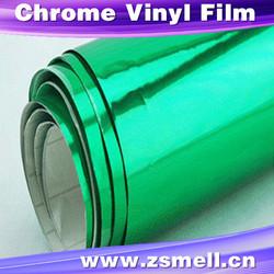 china supplier Bubble free easy wrap matte chrome red/ blue vinyl film