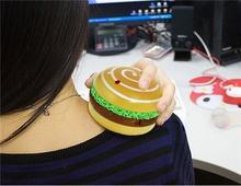 Cute Hamburger Design Hand Warmer & Massager (Yellow)