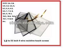 6, 6.1, 6.2, 6.5 inch 4 wire resistive touch screen panel for intercoms, GPS car navigation
