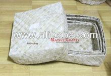 Lauhala boxes set of 4 wholesale
