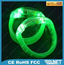 2014 Shenzhen factory new style sound activated LED flashing bracelet new gift bracelets sound activated promotion