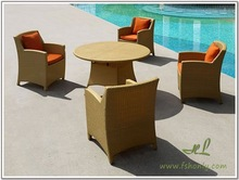 Rattan table and chairs set modern coffee shop furniture wholesale