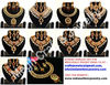 Bollywood kundan jewelry - Kundan polki jewelry set - Indian traditional one gram gold jewellery-wholesale indian jewelry