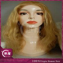 100% Original short blonde human hair full lace wig real brazilian hair virgin brazilian hair wig