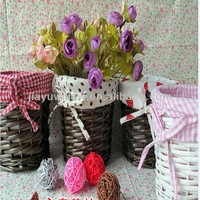 2013 ( Super Deal) Wicker small decorative baskets And Sorghum Stalk