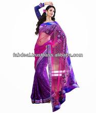 Beautiful Designer Sarees 2014 | Embroidery Designs On Sarees