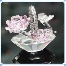 süs dekor el yapımı kristal çiçek sepetleri bebek kız doğum günü hediyesi