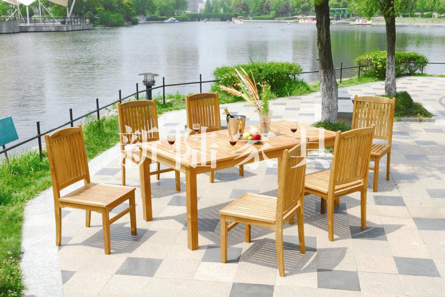 2014 new version teak wooden garden costco outdoor furniture set FSC approved