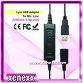 au91 microsoft lync usb adaptador usb enchufe de centro de contacto bottomcord auricular usb