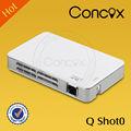 lúmenes del proyector visualizador inimaginable de bajo precio al por mayor mini portátil proyector juegos concox qshot0