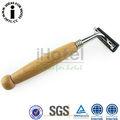 de madeira e lâmina de barbear alta qualidade