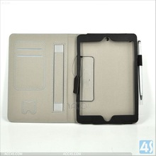 For iPad Mini 2 Case with Handle Leather Case P-IPDMINIiiCASE034