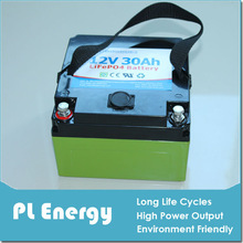 long life rechargeable lifepo4 12v 30ah battery pack