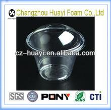Transparent Plastic disposable cup cover