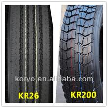 2014 big sale high quality with all sizes KORYO brand tbr tyre