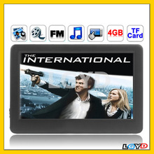 High Quality 4.3 inch Touch screen 4GB MP5 Player, Slip-operation can change the menu, Support FM Radio, E-Book, Games, TV Out,