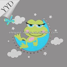 2014 lovey frog screen printing transfer motif ,rhinestone applique