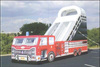 Fire truck inflatable dry slide on sale G4045