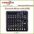professional mixer de som 6 canal com leitor usb