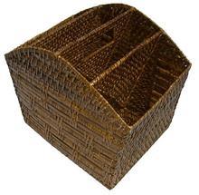 Beautyful/ strange-looking rattan/wicker document holder from Vietnam