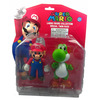 2pcs Set Nintendo Super Mario & Green Yoshi Collectible Figure Toy in Twin Pack