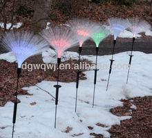 ใยแก้วนำแสงกลางแจ้งไฟพลังงานแสงอาทิตย์สำหรับตกแต่งสวน