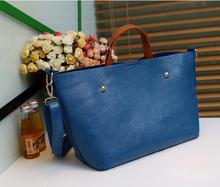 Leopard Vintage designer bags leather blue bag 2014
