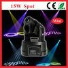 15W LED spot lighting/led moving-head mini spot