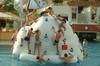 PVC tarpaulin pool toys inflatable iceberg