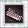 Company Promotion Colorful Swarovski Crystal Metal Ballpoint Pen