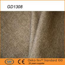 Shaoxing hot selling high quality plain fabric l shape sofa cover