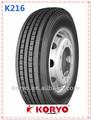 2014 caliente venta de koryo/longmarch marca 11r22.5- 16pr lm 216 china de neumáticos de camión