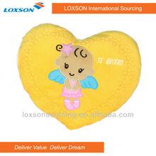 lovely heart shape plush cushion