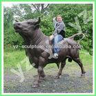 large bull bronze animal sculpture BASN-F052