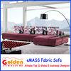 EM-834 arab fabric sofa set designs modern l shape sofa