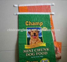 25kg plastic bag for packing pet food bag