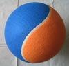 2 colours jumbo wool felt cover tennis ball