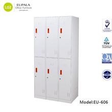 6 compartment steel locker/6 door Clothing locker with hanging rods/6 door Locker price