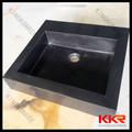 balck éviers de cuisine en pierre de quartz