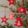 2014 venda quente artesanal de palitos de madeira decorativa de natal feita na china