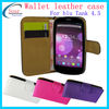 hot selling cell phone flip leather case for blu tank 4.5