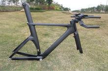 2014 newest time trial carbon fiber tt bicycle frame, di2 and mechanical triathlon frameset