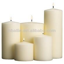 white pillar church candle