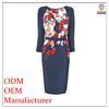 Direct manufacturer designer high quality 2014 OEM top fashion elegant ladies royal simple design office wear dress