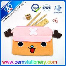 kids pencil case/plush cow pencil case/fashion pencil case for kids