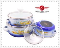 2014 New Design Eco-friendly Porcelain Enamel Cookware