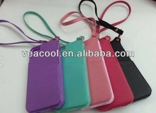 Lanyard Leather back case cover for Apple iPhone 4S 4 4G Lanyard case