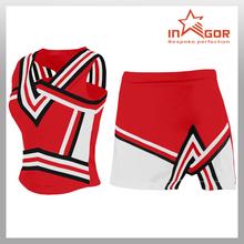 Customized cheerleading crop tops Wholesale sexy cheerleader costume